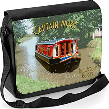 Personalised Messenger Bag Canal Barge Narrow Boat Captain