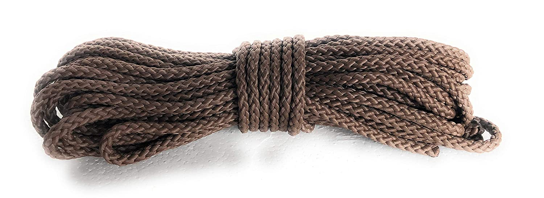 Viva Nature Polypropylen Seil\ PP Seil \ 6 mm SCHWARZ Flechtleine Polypropylenseil Tau Festmacher Schnur Tauwerk Universalseil