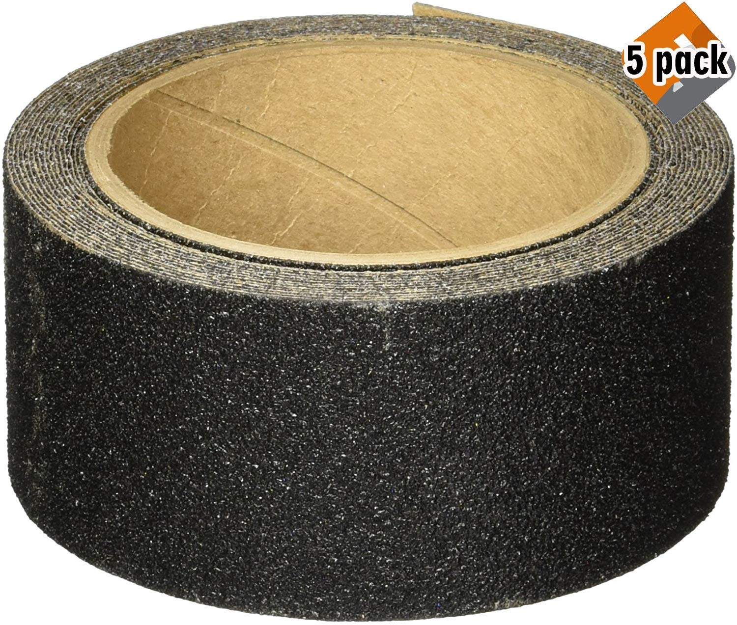 3M Safety-Walk Slip Resistant Tread, Black, 2-Inch by 180-Inch Roll, 7635NA - 5 Pack by 3M SAFETY