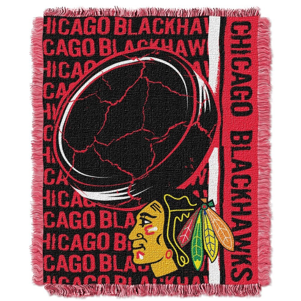 Officially Licensed NHL Homefield Ice Advantage Woven Tapestry Throw Blanket 48 x 60 Multi Color
