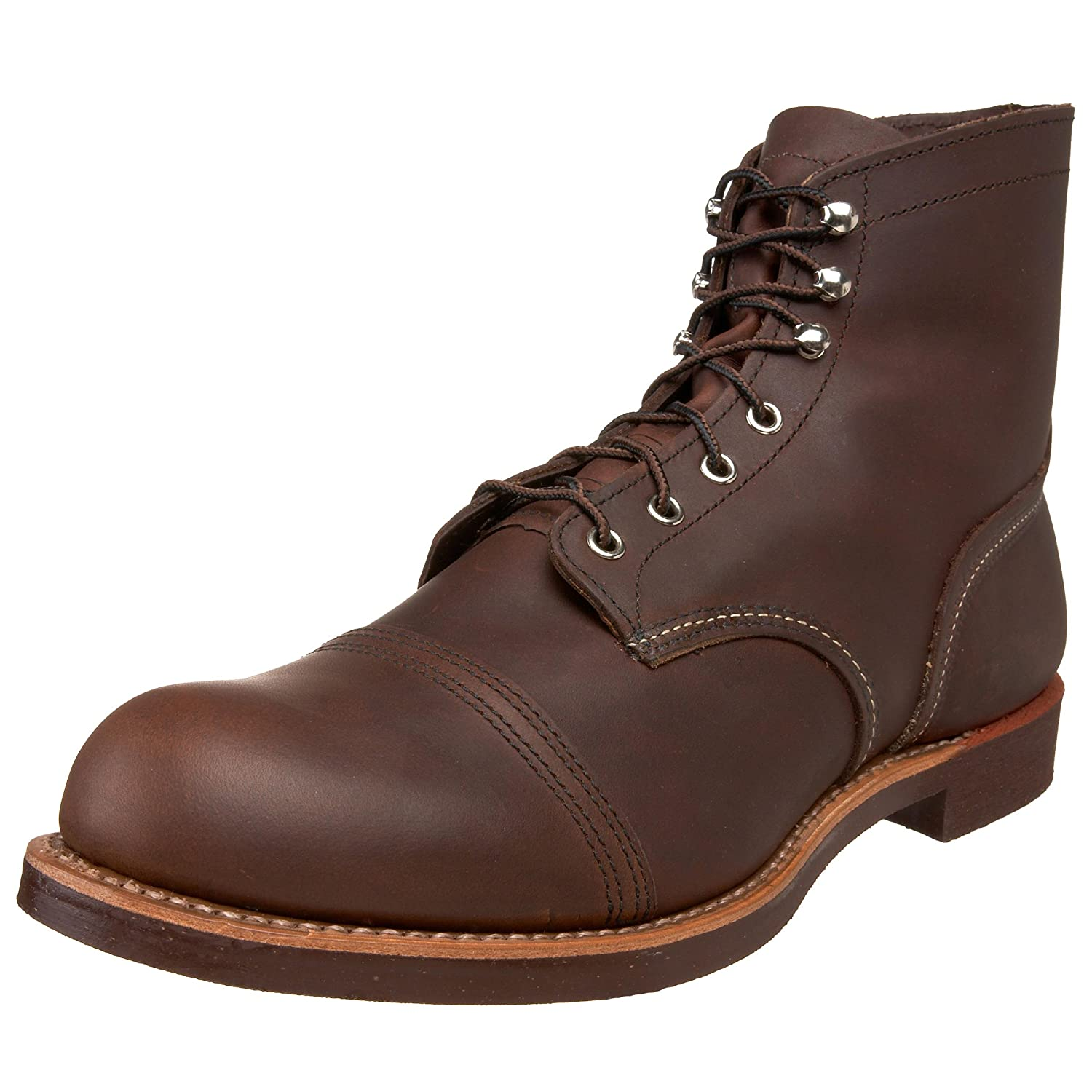 Men's 1920s Shoes History and Buying Guide Red Wing Heritage Iron Ranger 6-Inch Boot $239.96 AT vintagedancer.com