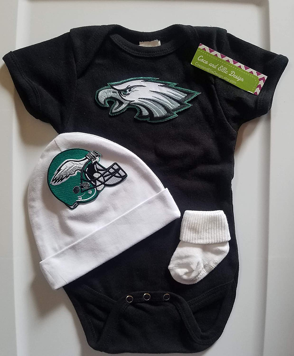 factory price 7fa44 3bd9d Amazon.com: Philadelphia Eagles baby boy outfit/Eagles baby ...