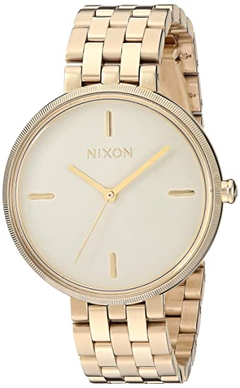 Nixon Vix Black Delicate & Classic Women's Watch (34mm. Gold and Cream Face/Gold Stainless Steel Band) best minimalist watches for women