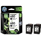 HP 680 Black Ink Cartridges Twin Pack (X4E79AA)