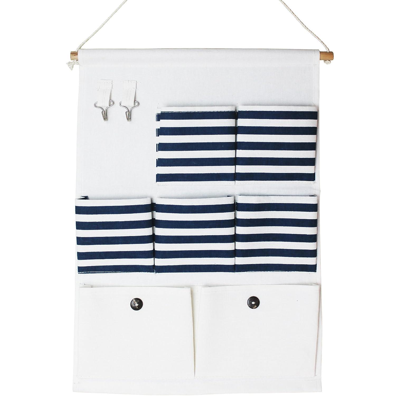 Wand Baumwolle H/ängeorganizer Beutel H/ängeaufbewahrung 7 Tasche T/ür zur/ück Aufbewahrungstasche