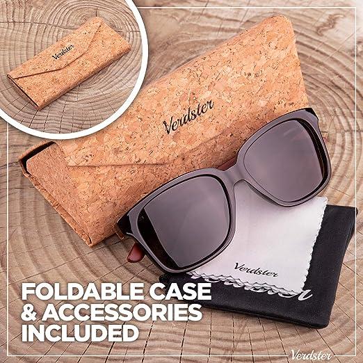 Verdster Lyon Gafas de Sol Polarizadas de Madera para Hombre y Mujer con Patillas de Secuoya