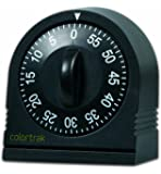 Colortrak 60 Minute Wind Up Timer, Black