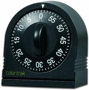 Colortrak 60 Minute Wind Up Timer, Black