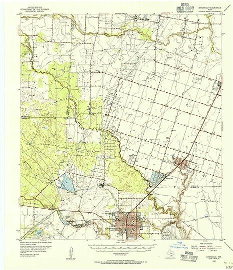 Map Of Texas Kingsville.Amazon Com Yellowmaps Kingsville Tx Topo Map 1 62500 Scale 15 X