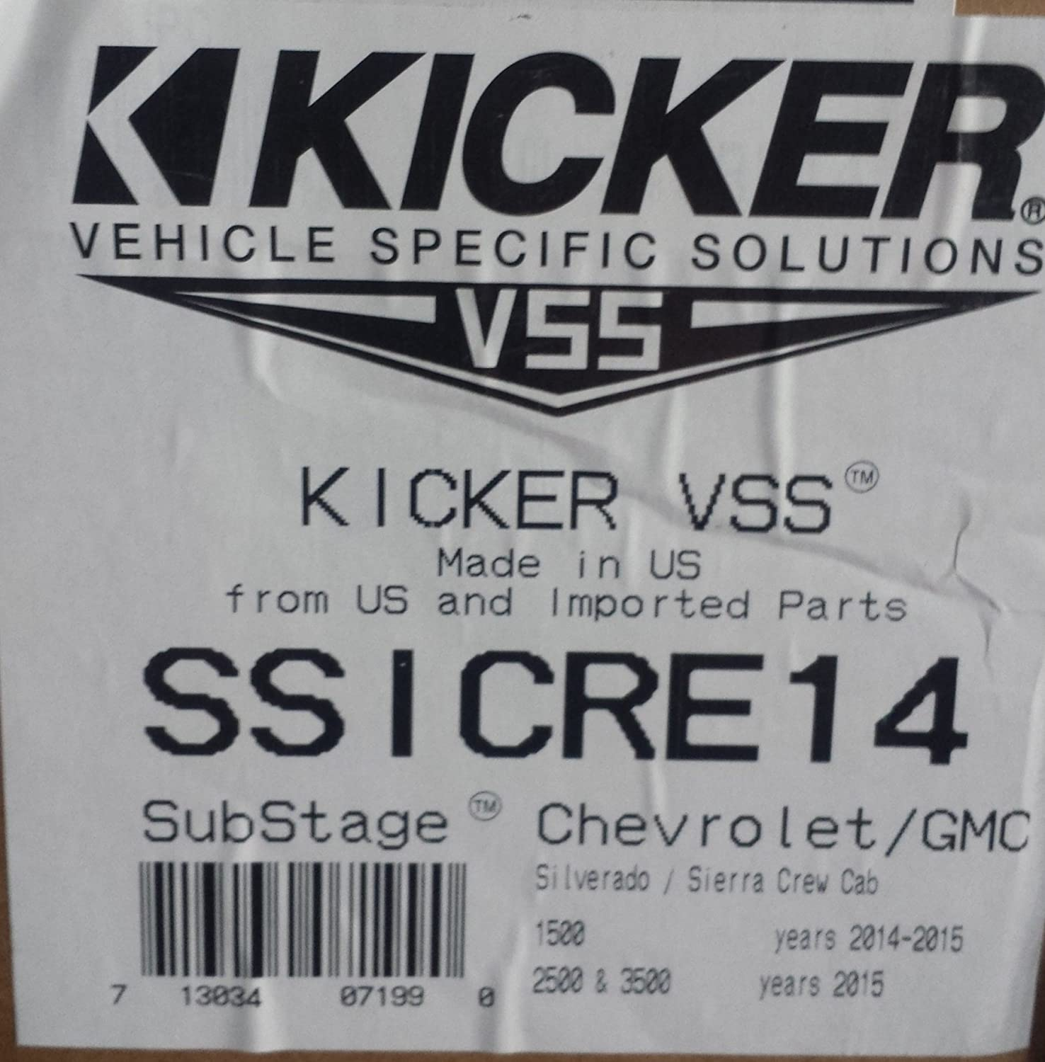 Kicker Ssicre14 Powered Subwoofer Upgrade Kit For 2014 7 Pole Wiring Diagram A Chevrolet Pick Up Silverado Gmc Sierra Crew Cab Home Audio Theater