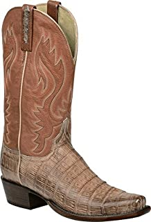 product image for Lucchese Heritage Mens Lawson Tan Burnished Ultra Belly Caiman Tail H1013.74