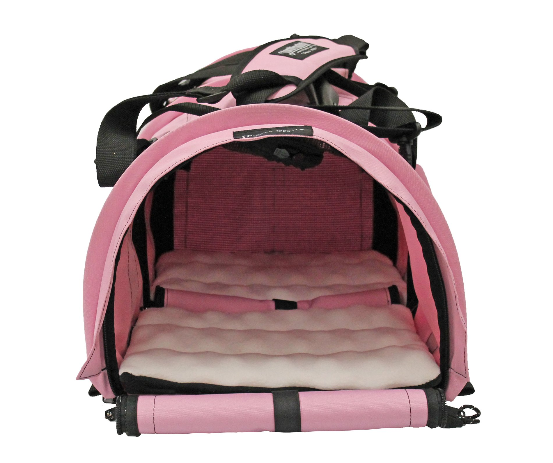 STURDI PRODUCTS StrudiBag Double Sided Divided Pet Carrier, Large, Soft Pink by STURDI PRODUCTS