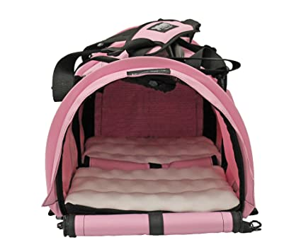 6f2c422296 Sturdi Products StrudiBag Double Sided Divided Pet Carrier, Large, Soft Pink
