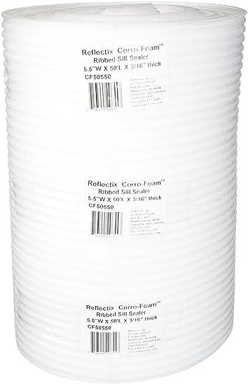 "Reflectix CF50550 Foam Sill Sealer 5.5/"" x 50/' White"