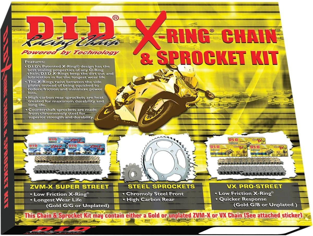 D.I.D X-Ring Chain and Sprocket Kit DKH-007G