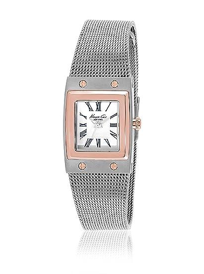 Kenneth Cole IKC4945 - Reloj para mujer con correa de malla, color dorado / gris