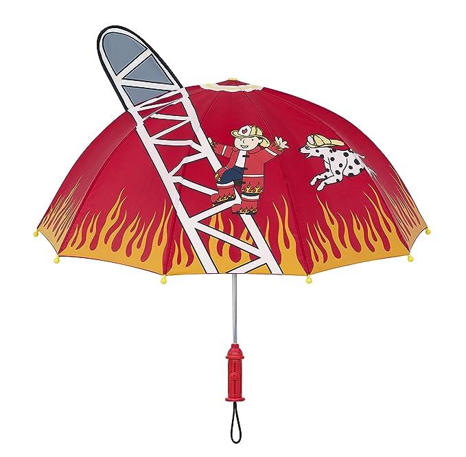 Kidorable Paraguas Marca Original para Niños y Niñas (Bombero)