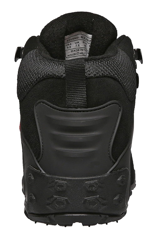 XIANG GUAN Mens Outdoor High-Top Lacing Up Water Resistant Trekking Hiking Boots