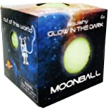 Island Genius Glow in The Dark Squishy Moon Ball - Stress Relief Anxiety Sensory Toys for Kids Teens and Adults