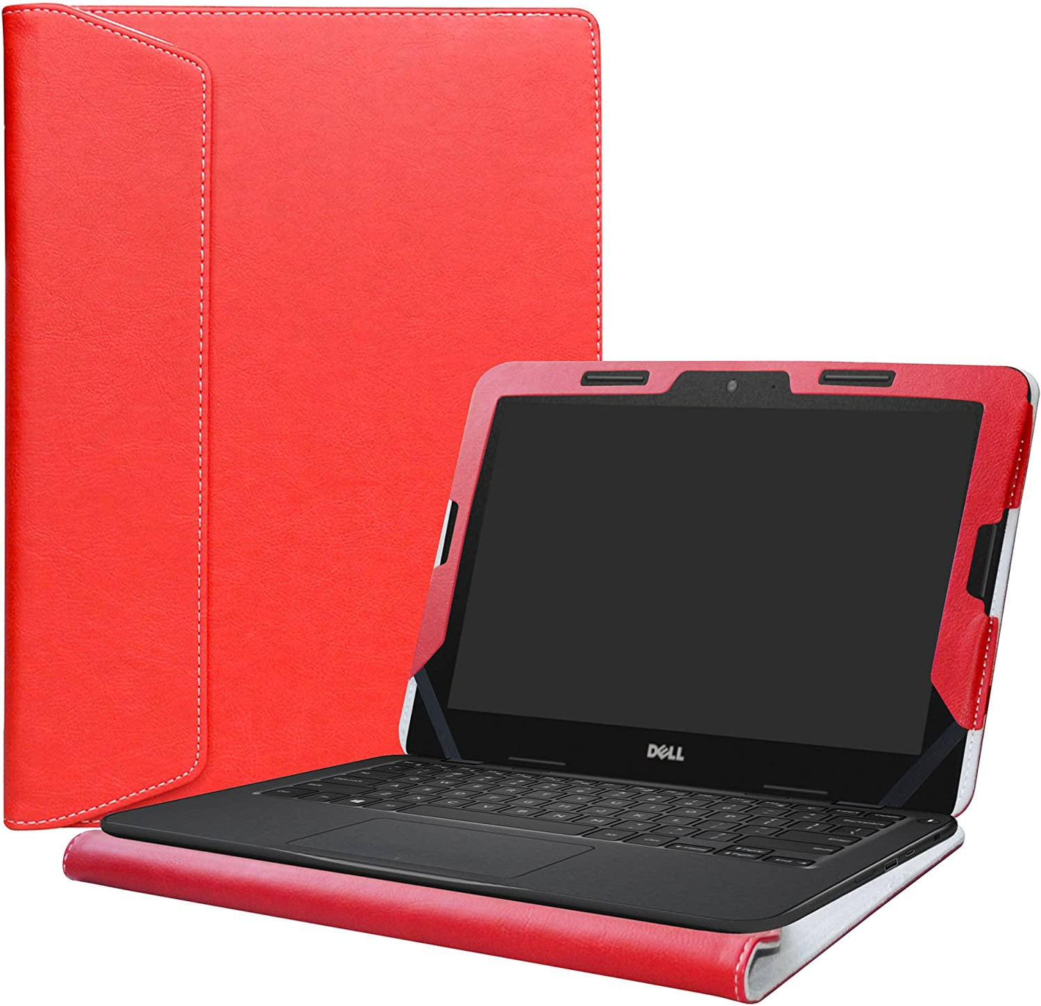 """Alapmk Protective Case Cover for 11.6"""" Dell Chromebook 11 5190/Chromebook 5190 3100 2-in-1 Education/Latitude 11 2-in-1 3190 3189 Education/Inspiron Chromebook 11 2-in-1 3181 Laptop,Red"""