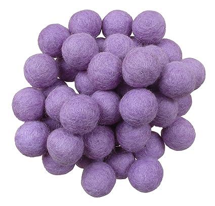 Amazon Com Wool Felt Balls Beads Natural Felting Woolen Felted