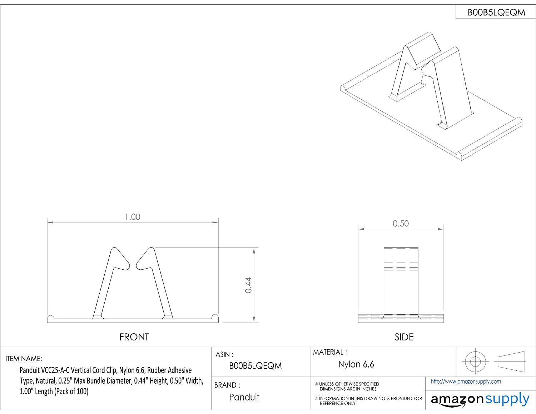 panduit rj11 wiring diagram panduit vcc25 a c vertical cord clip  adhesive backed  nylon 6 6  panduit vcc25 a c vertical cord clip