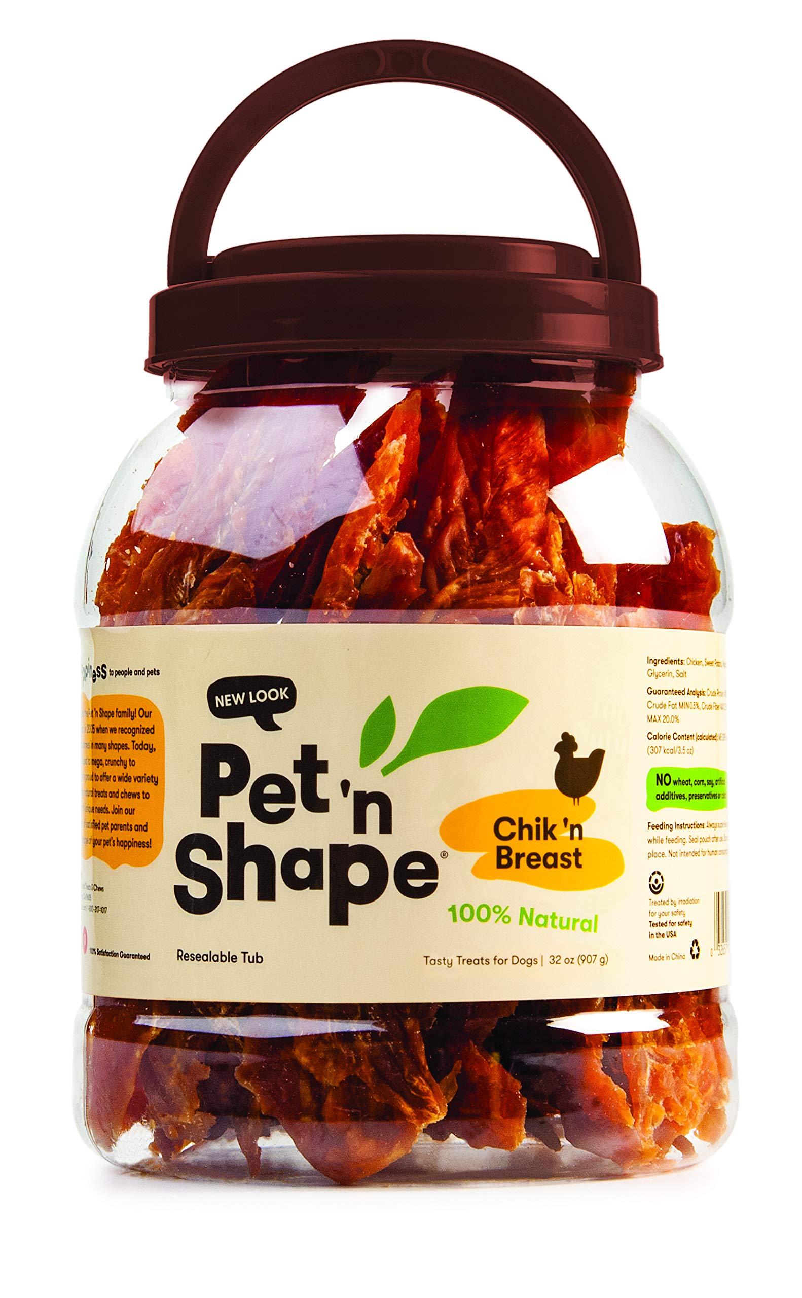 Pet 'n Shape - Chik 'n Breast - 100-Percent Natural Chicken Jerky Dog Treats, 2-Pound