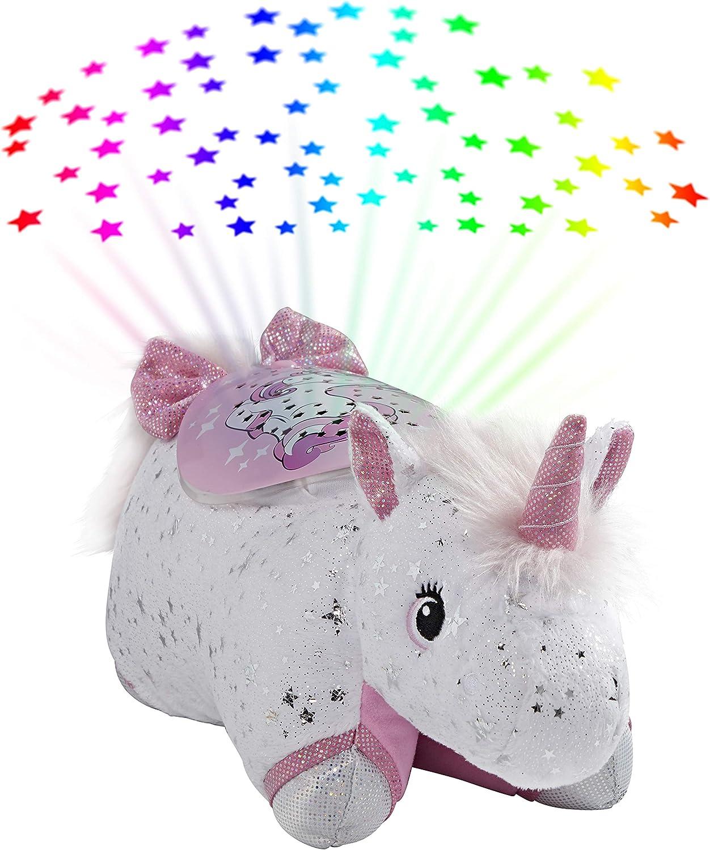 Pillow Pets Glittery Unicorn Sleeptime Lite 11 Stuffed Animal Plush Nightlight