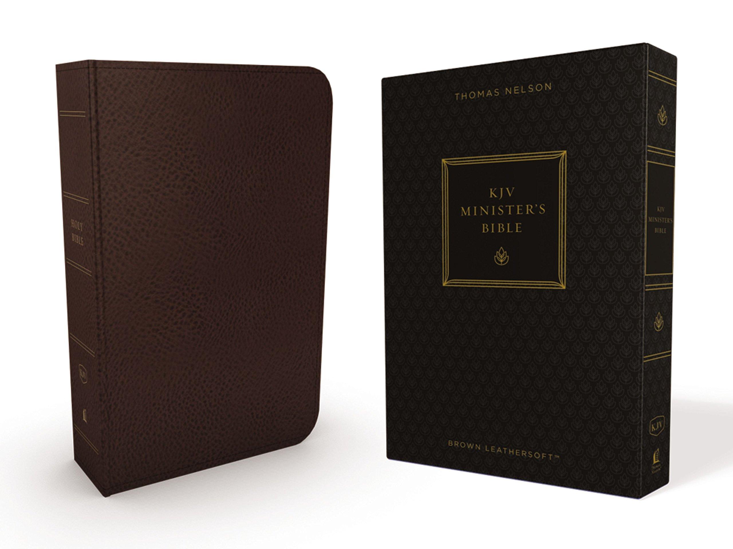 KJV, Minister's Bible, Leathersoft, Brown, Comfort Print pdf epub