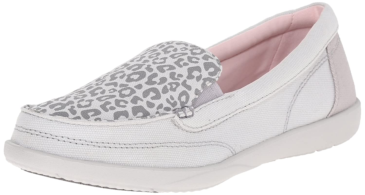 Amazon.com | Crocs Women's Walu II Leopard Print Loafer Boat Shoe, Light  Grey/Pearl White, 6 M US | Loafers & Slip-Ons