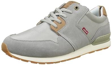 ebeceecba06 Levi's Men's Ny Runner II Low-Top Sneakers, (Light Grey), 11 UK 46 ...