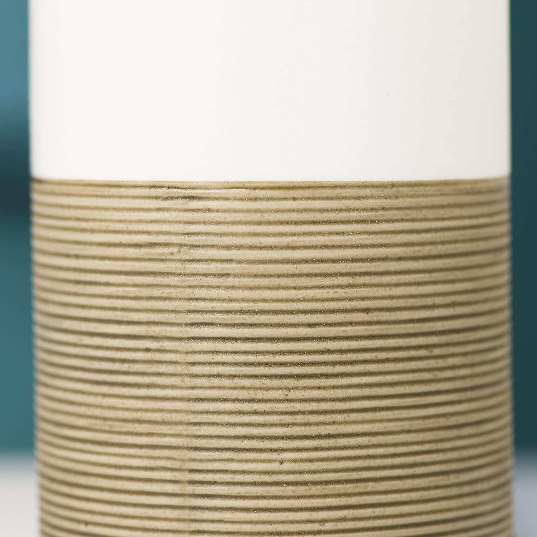 Porzellan Sealskin Becher Doppio handbemalt handbemalt Seifenspender Doppio Farbe: Sand Farbe: Sand Zahnputzbecher aus nat/ürlichem Porzellan