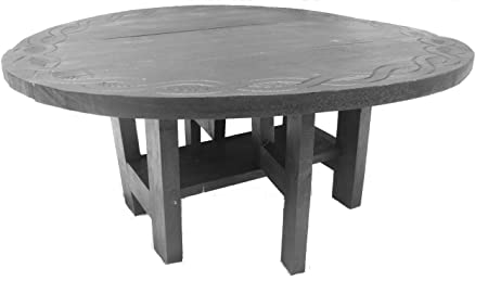Round Folding Coffee Table With Celtic Designfairtrade