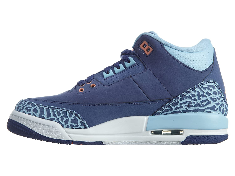 Nike Kids Air Jordan 3 Retro GG Basketball Shoes Dark Purple 441140 506 (5Y)