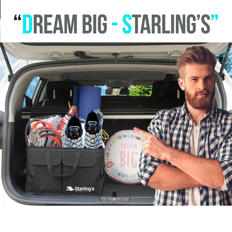 Pieghevole Carico Box Per Auto SUV Super Resistente e Durevole Scomparti Regolabili e Fondo Impermeabile Antiscivolo Organizer Bagagliaio Per Auto Starling: Ecologico Camion
