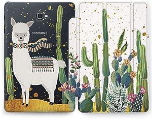 Wonder Wild Funny Llama Samsung Galaxy Tab S4 S2 S3 A E Smart Stand Case S6 S5e 2019 2017 2018 Tablet Cover 8 Pen 9.7 10.1 10.5 Inch Clear Design Llama Print Cactus Floral Alpaca Kawaii Nature