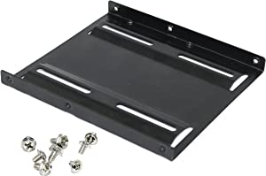 "2.5"" to 3.5"" Bay SSD HDD Notebook Hard Disk Drive Metal Black Mounting Bracket Adapter Tray Kit"