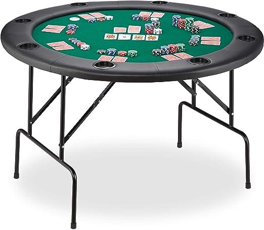 Relaxdays Table de Poker Pliante en Feutre pour Poker, Black ...