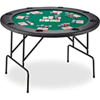 Relaxdays Mesa Plegable para Poker, Black Jack, Ruleta