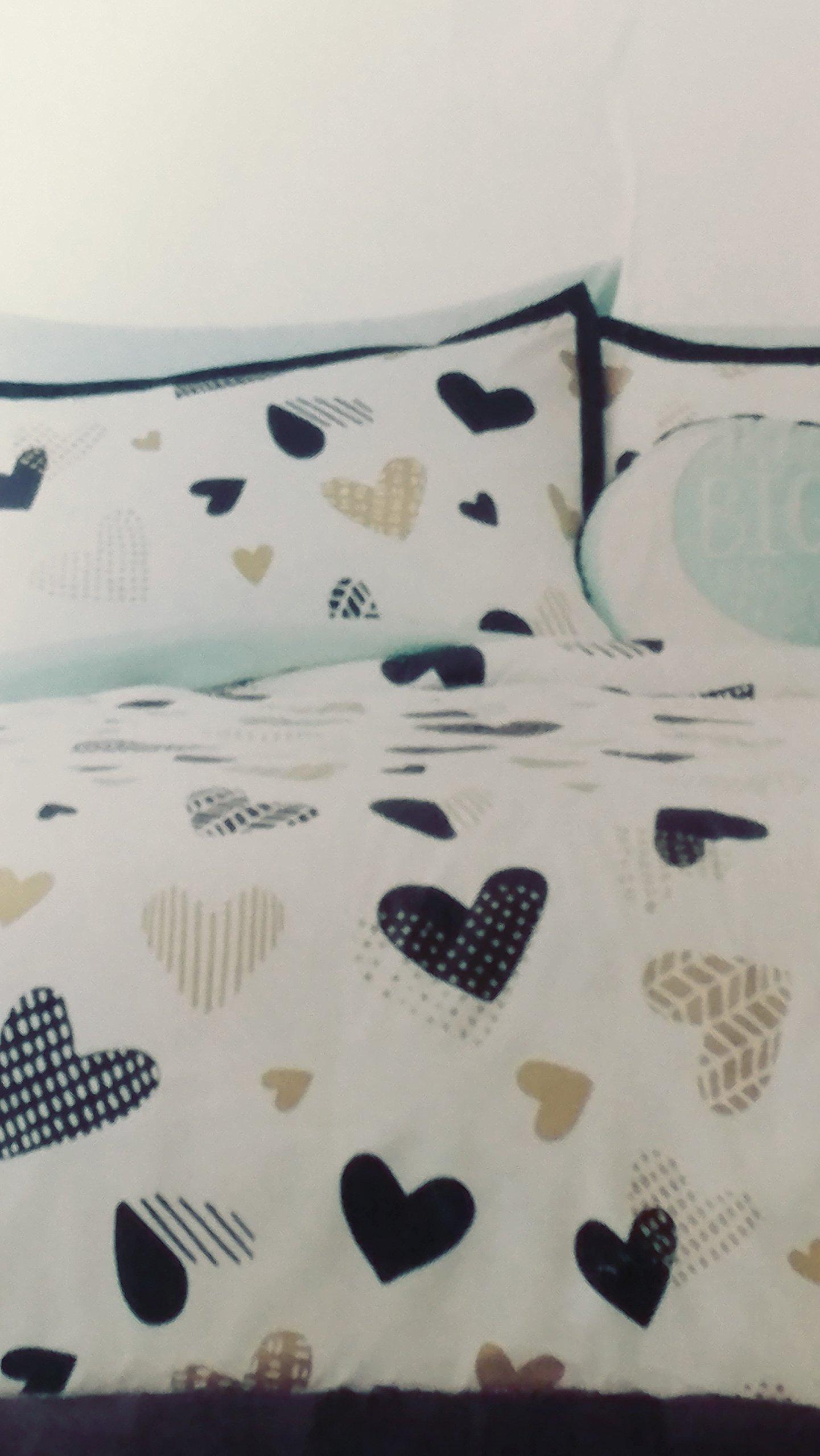 Pillowfort-Hello-Hearts-Comforter-Set-BlackWhite-3PC-FullQueen