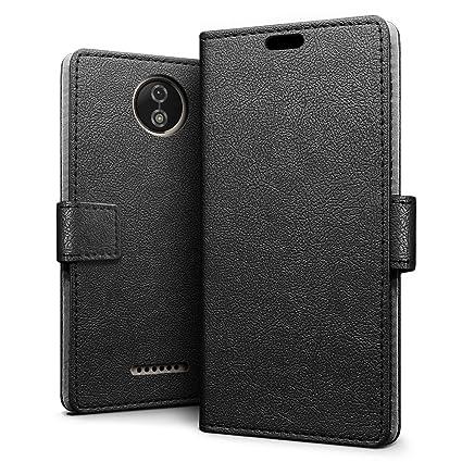 a08bd26ebf8 SLEO Funda para Motorola Moto C Plus Carcasa Libro de Cuero Ultra Delgado  Billetera Cartera [