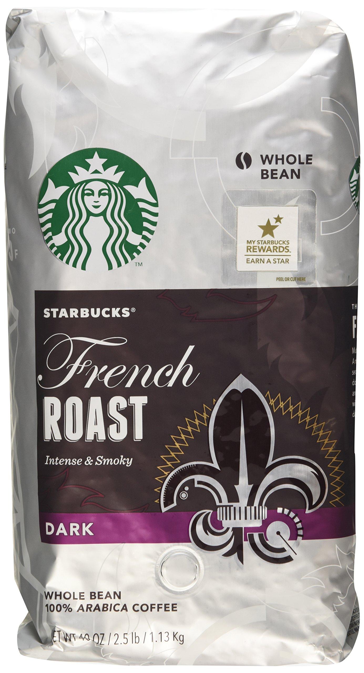 Starbucks French Roast Dark Whole Bean Coffee - 2 - 40 Oz Pack by Starbucks