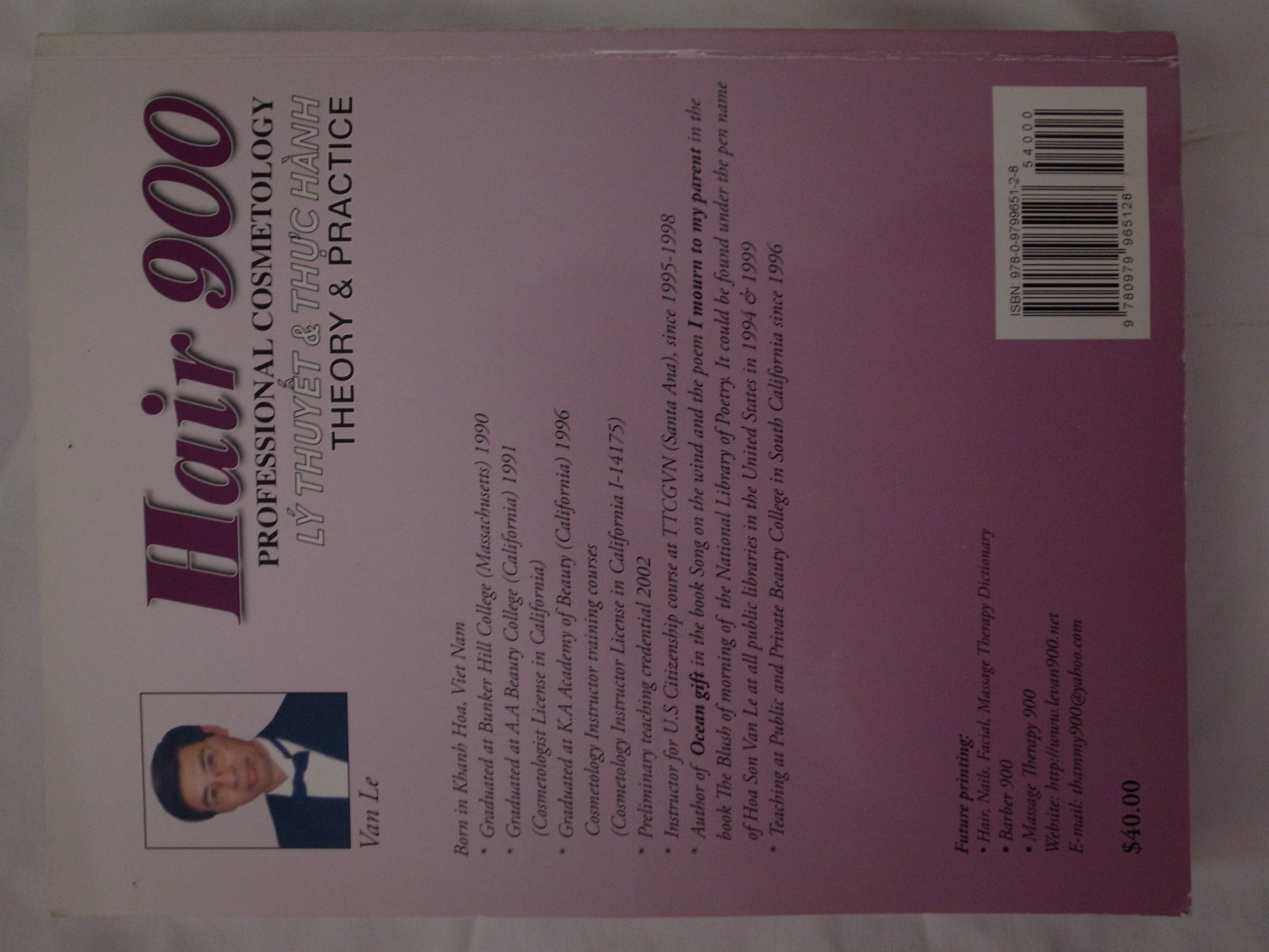 Hair 900 professional cosmetology theory practice van le hair 900 professional cosmetology theory practice van le 9780979965128 amazon books fandeluxe Gallery