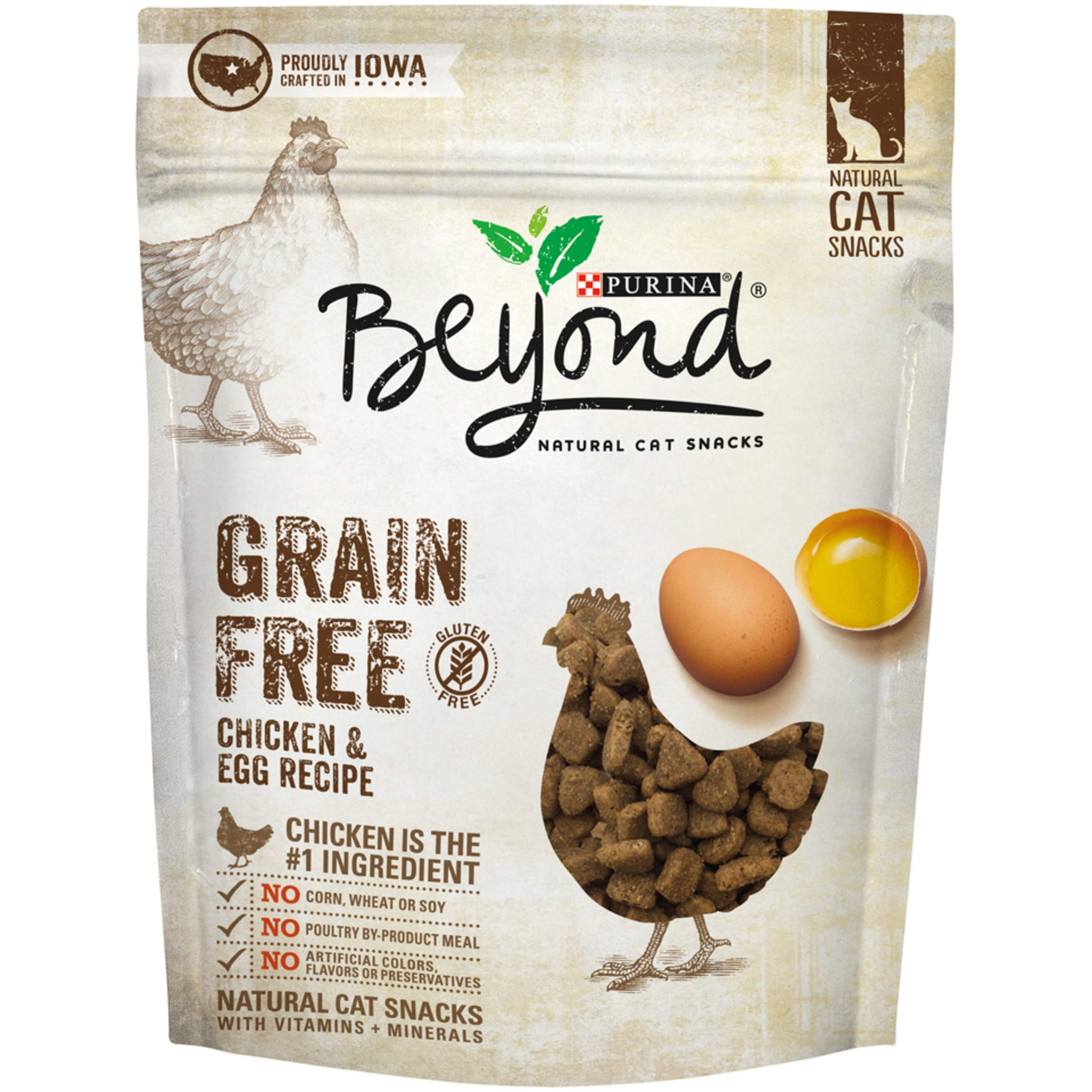 Purina Beyond Grain Free Chicken & Egg Recipes Natural Cat Snacks, 6 oz. Pouch (Pack of 6) by Purina Beyond