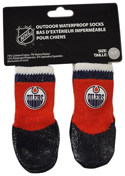 HUNTER NHL HBPF0791 Edmonton - Calcetines de goma para mascotas