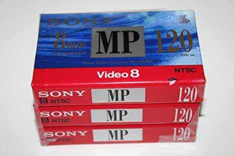 Amazon com: SONY 8mm Video Cassette Tape P6-120MP - 120