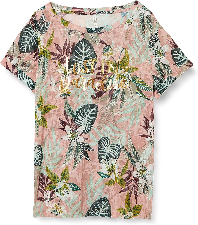 Only Onlrilla S/S O-Neck Top Box Jrs Camiseta para Mujer: Amazon.es: Ropa y accesorios