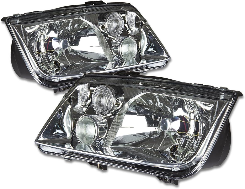 2002-2005 VW VOLKSWAGEN JETTA Halogen w//o Fog Lamps Headlights Left Right Pair