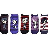 Tokyo Ghoul Socks Cosplay (5 Pair) - (Women) Tokyo Ghoul Gifts Characters Low Cut Socks - Fits Shoe Size: 4-10 (Ladies)