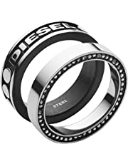 Diesel Men Stainless Steel Stacking Ring - DX1170040-9